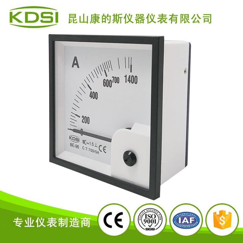 单相电流表头 指针式交流安培表be-96 ac700-5a
