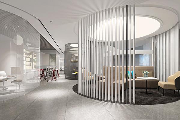 如何运用曲线展现办公空间装饰的创意图片