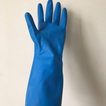 加長藍色丁腈手套