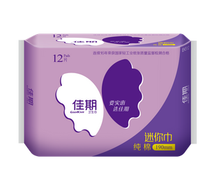 佳期纯棉迷你巾12片(190MM)