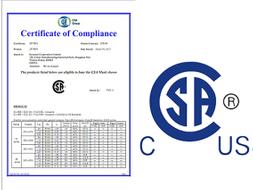 2013年4月?6月所有DCL系列產品均通過CSA認證。
