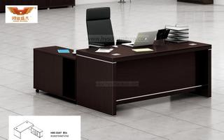 厂家直销 黑橡木办公桌 现代时尚办公室大班台 H80-0167