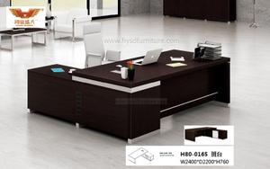 厂家直销 黑橡木办公桌 现代时尚办公室大班台 H80-0165
