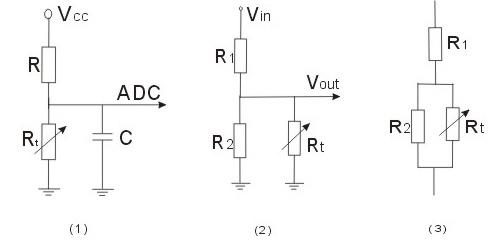 ntc热敏电阻 应用电路设计:单片机温度测量,温度控制