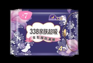 +7熟睡柔棉夜用338mm卫生巾4片