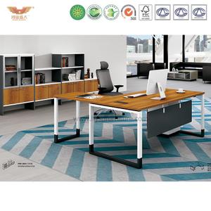 厂家直销 金橡木班台板式办公桌 现代时尚办公室主管办公桌 H90-0102