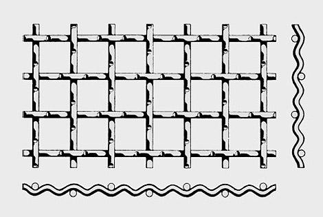 双向中间隔波编织