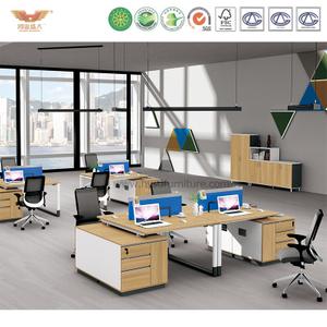 厂家直销 现代简约板式双人组合台 时尚职员办公桌 H90-0208