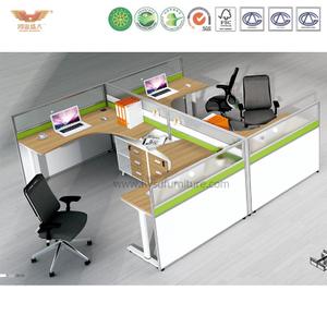 厂家直销 办公家具 四人位职员桌 屏风职员办公桌 鸿业盛大 H15-0819