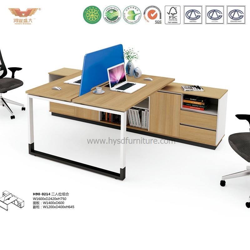 厂家直销 现代简约板式两人位职员桌 时尚职员办公桌 H90-0214