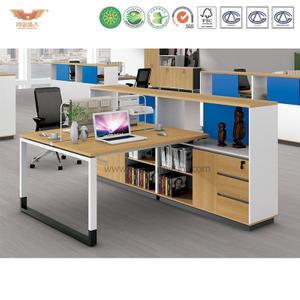 厂家直销 现代简约板式两人位职员桌 时尚职员办公桌 H90-0212