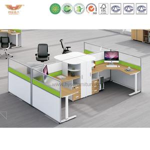 厂家直销 办公家具 四人位办公职员桌 屏风职员办公桌 鸿业盛大 H15-0823