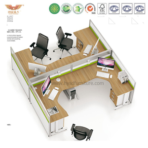 厂家直销 办公家具 四人位职员桌 屏风职员办公桌 鸿业盛大 H15-0821