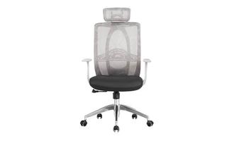 厂家直销 可调节靠枕白背黑座大班椅 现代时尚办公室大班椅 HY-20A