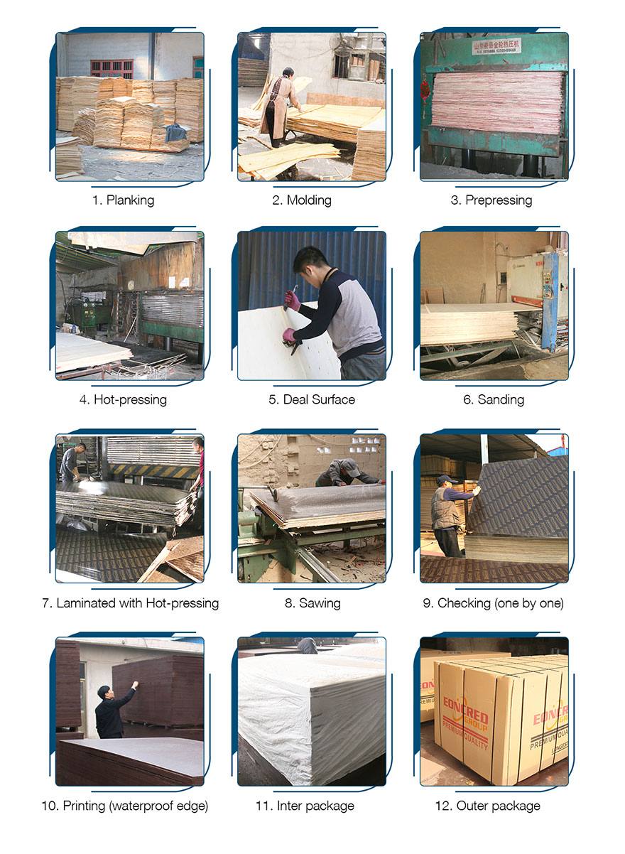 film-faced-plywood production process
