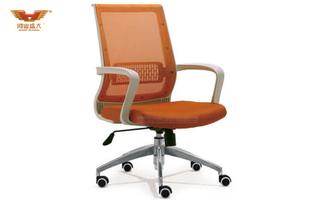 厂家直销 黄绿色网质办公椅 现代时尚办公室中班椅 HY-9006B