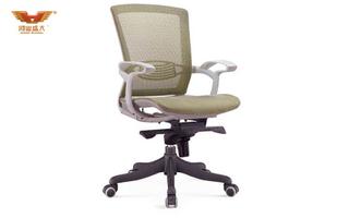 厂家直销 黄绿色网质办公椅 现代时尚办公室中班椅 HY-988B-1