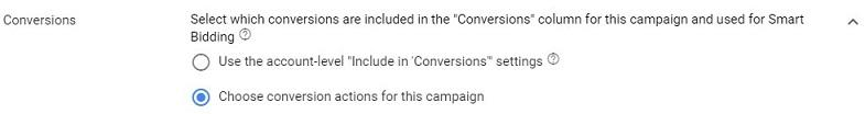 campaign-level-conversion-setting