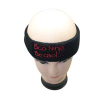 黑色纯棉吸汗发带头带,专业的运动发带美容头巾生产厂家