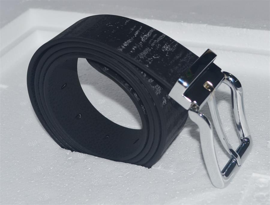 包胶织带(塑胶织带, 涂胶织带, 过胶织带, 织带包胶)应用到--老虎纹新型环保腰带.jpg