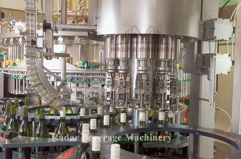wine bottle filling machine