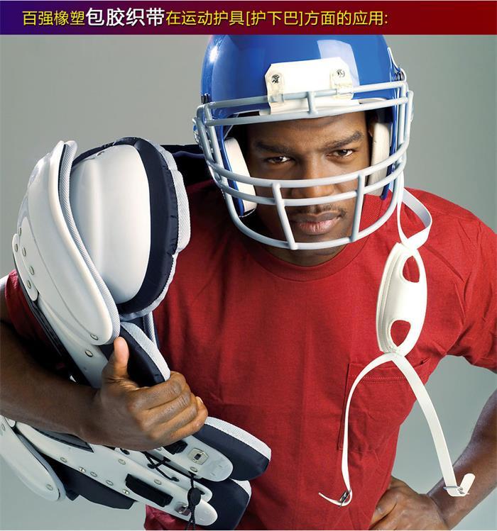 运动护具带、盔甲连接带、护下巴带和头盔止滑带-拉力大、耐磨、防水、高韧性和高强度,而且在冲孔或者铆钉孔位在强力作用下不易变型.jpg