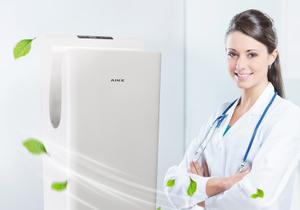 HEPA+UV 艾克干手器助力醫療行業實現無菌干手