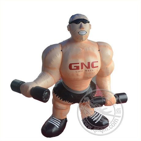 肌肉男充气卡通模型