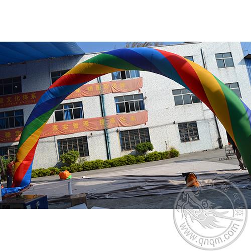 充气彩虹门