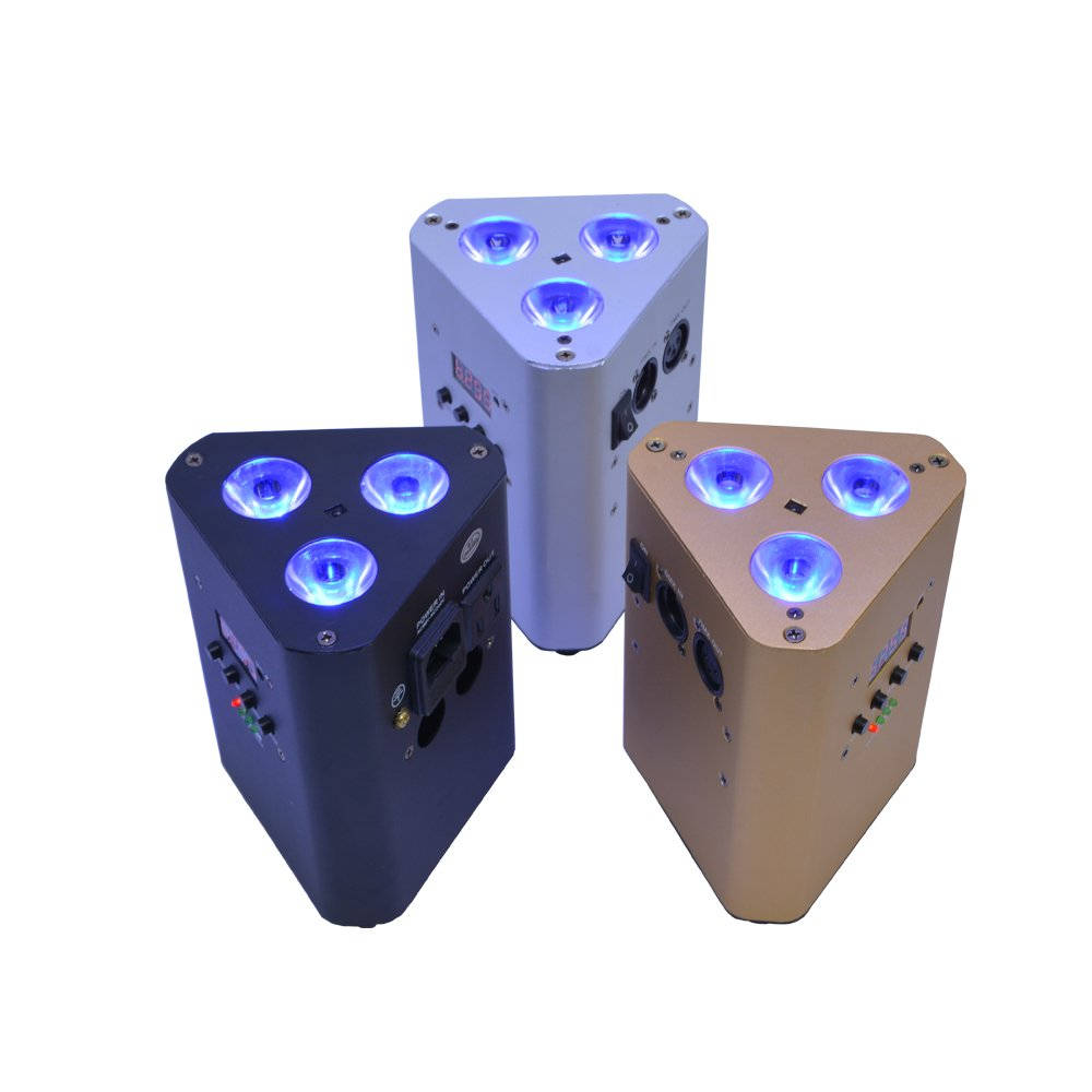 3x10W RGBW Battery Rechargable LED Par Light