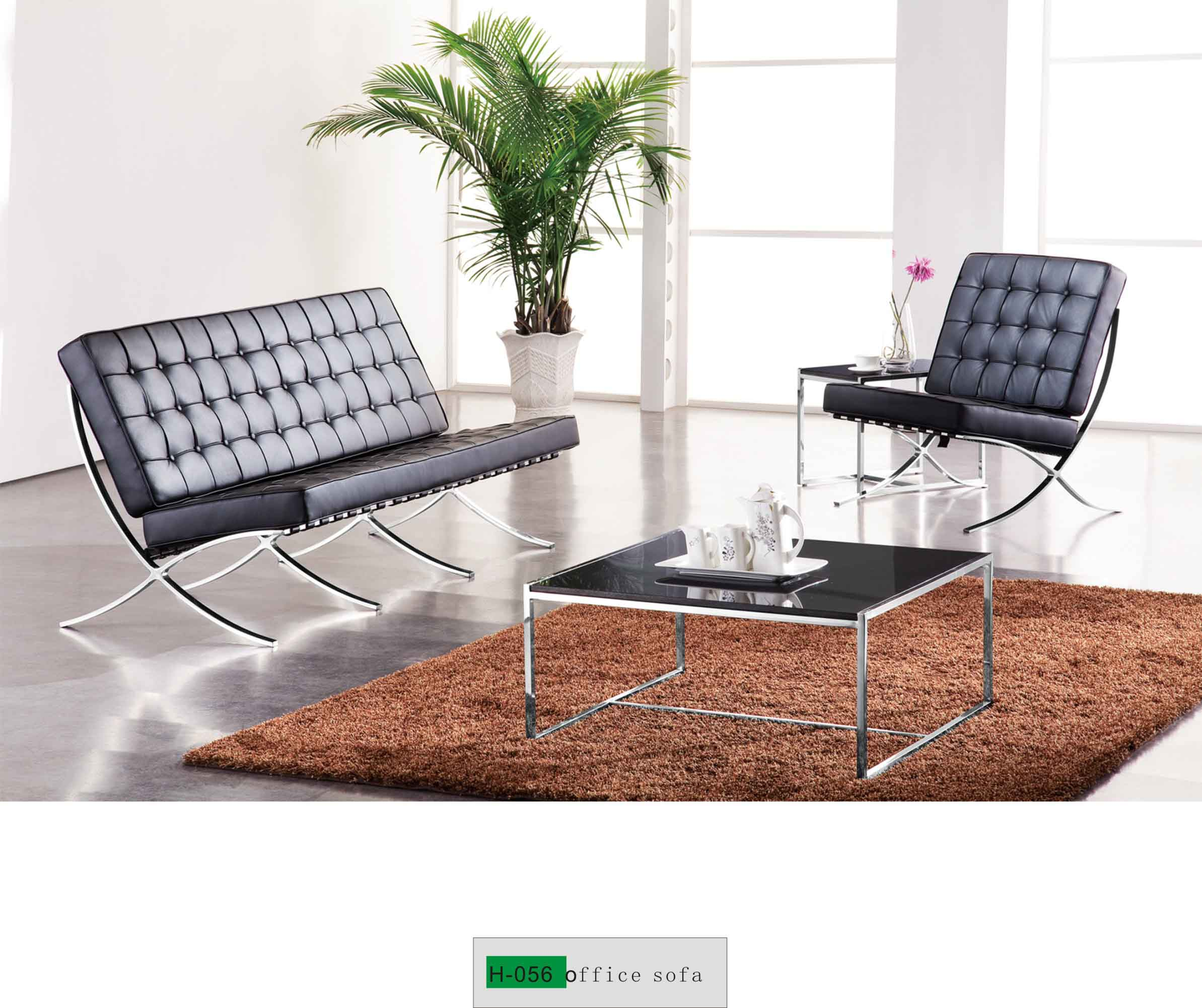 Steel Office Sofa Set H-056 - Buy high end office sofa, contemporary ...
