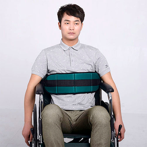 Wheelchair safety belt skid prevention belt