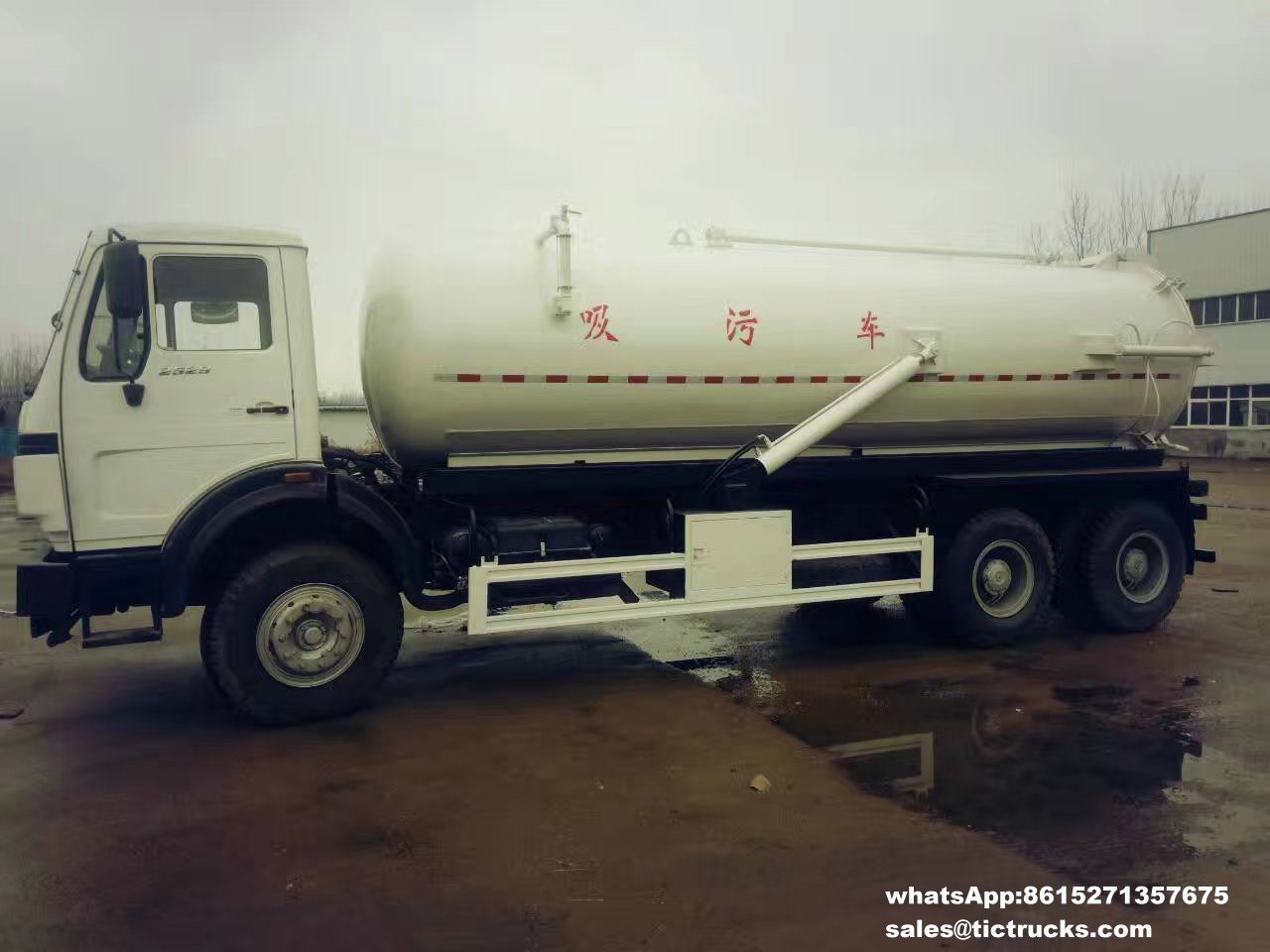 Beiben off road 6x6 vacuum sewage tanker truck for sale