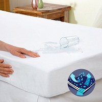 Breathable Cotton Terry Cover Deep Pocket Queen Size Waterproof Mattress Protector